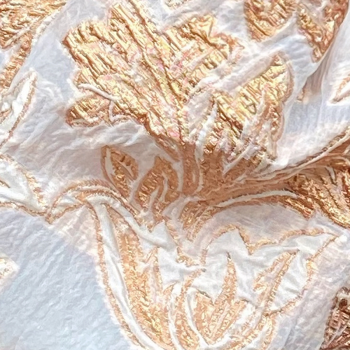 Jacquard Gold and Whitea