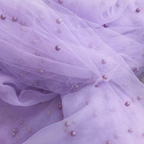 Lavender Pearls on Tulle