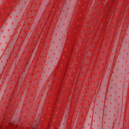 Pink And Red Polka Tulle