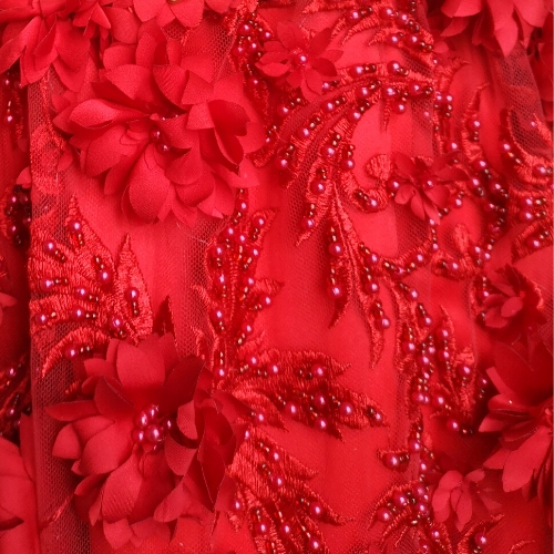 Red Flowers and Pearls