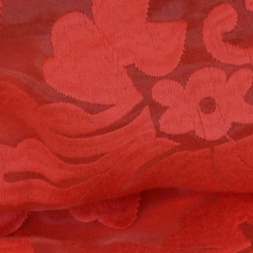 Red Lace Organza